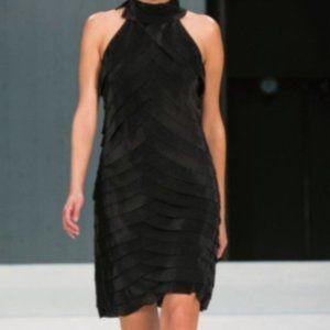 NWOT Samuel Dong High Neck Tiered Sleeveless Dress